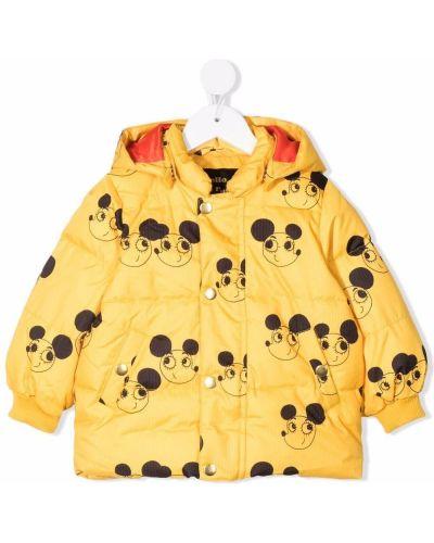 Żółta kurtka z printem Mini Rodini