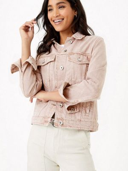 Джинсовая куртка весенняя розовая Marks & Spencer