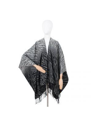 Czarny ponczo materiałowy Art Of Polo