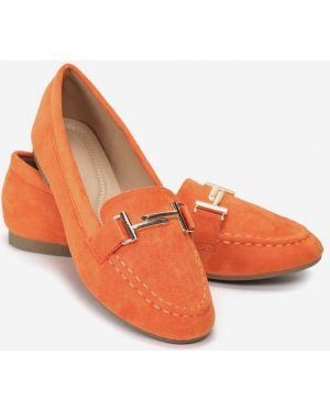 Mokasyny - pomarańczowe Multu