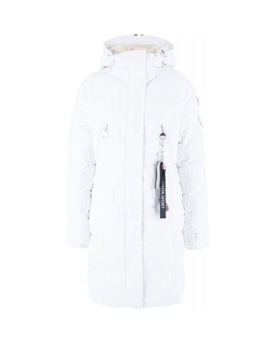 Пальто с капюшоном - белое Luhta