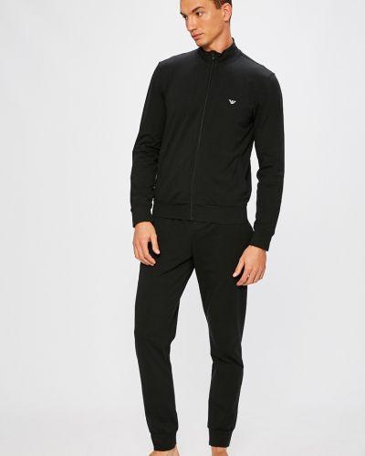 Пижама хлопковая черный Emporio Armani