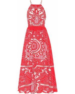 Платье миди с вышивкой макси Redvalentino