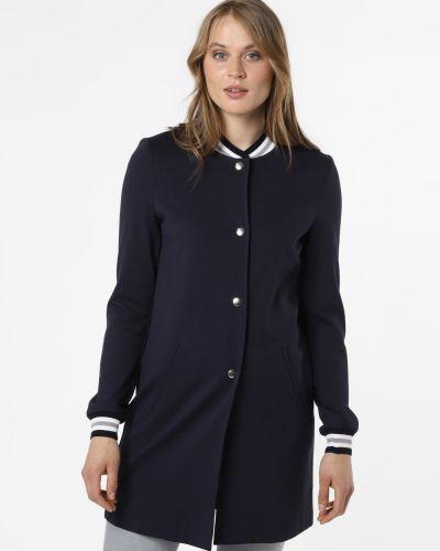 Prążkowany niebieski płaszcz z bursztynem Amber & June