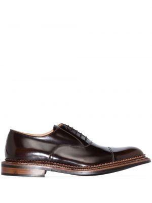 Кожаные оксфорды - коричневые Grenson
