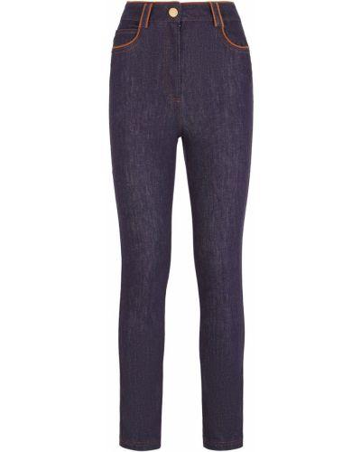 Широкие джинсы с вышивкой слим фит Fendi