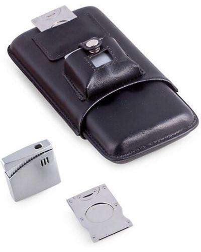Кожаная серебряная зажигалка с карманами Bey-berk