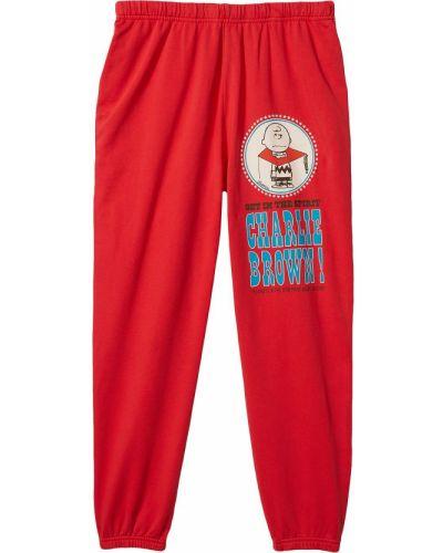 Ватные красные хлопковые брюки палаццо Marc Jacobs