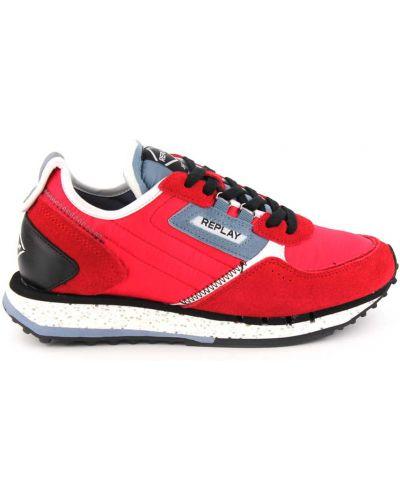 Czerwone buty sportowe skorzane Replay