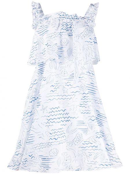 Платье с вышивкой со вставками Kenzo