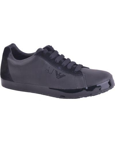 Черные кроссовки резиновые Armani Jeans