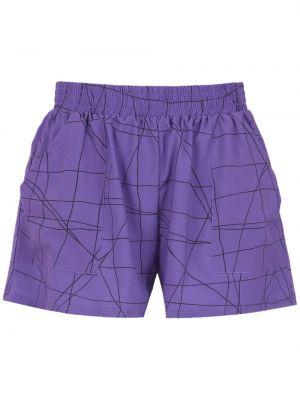 Фиолетовые шорты с карманами Uma Raquel Davidowicz