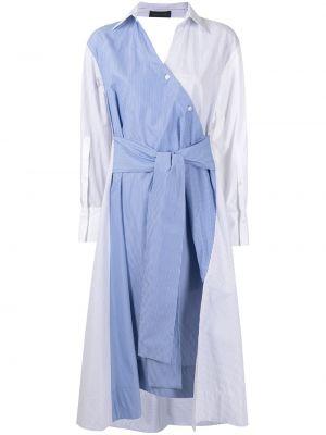 Белое платье макси с длинными рукавами с воротником Eudon Choi