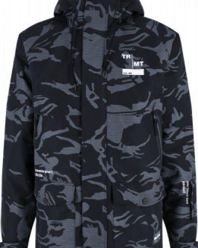 Прямая черная утепленная куртка Termit