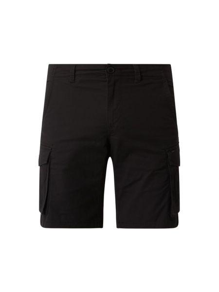 Czarne szorty cargo bawełniane Only & Sons