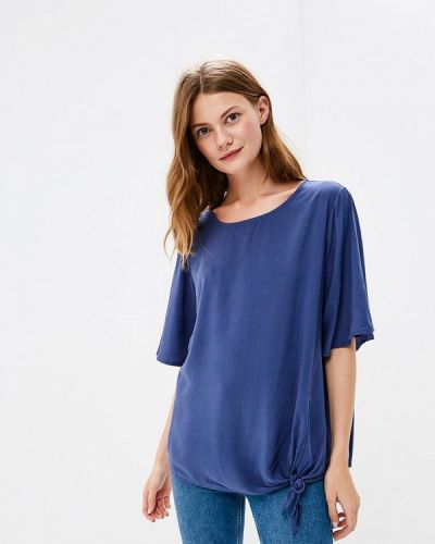 Блузка с коротким рукавом синяя Broadway