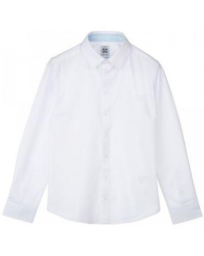 Школьная хлопковая классическая рубашка стрейч Playtoday