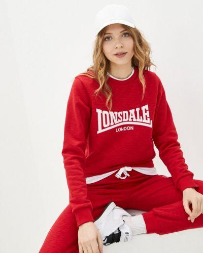 Красный свитшот Lonsdale