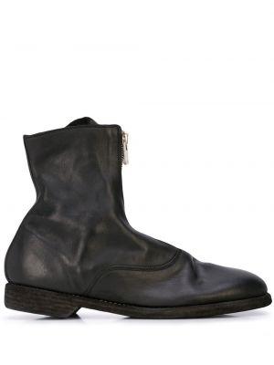 Buty skórzane czarne Guidi