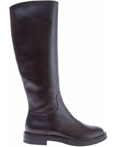 Кожаные сапоги на каблуке классические Casadei