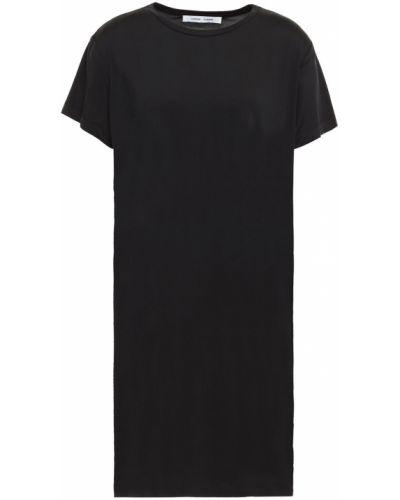 Трикотажное черное платье мини стрейч SamsØe Φ SamsØe