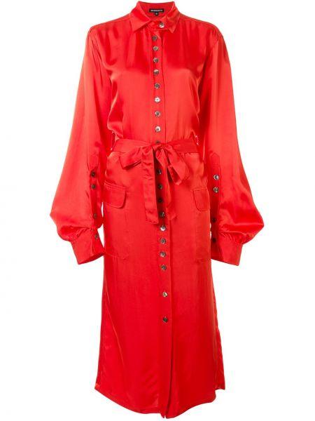 Платье макси на пуговицах классическое Ann Demeulemeester