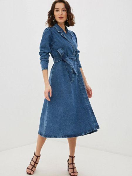 Джинсовое платье синее весеннее Selected Femme