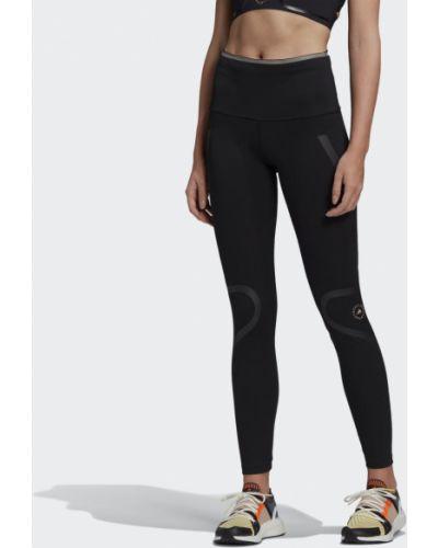 Черные спортивные леггинсы для фитнеса Adidas