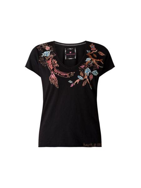 T-shirt bawełniana - czarna Lieblingsstück