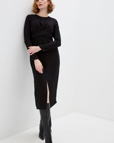 Прямое черное платье А-силуэта Zarina