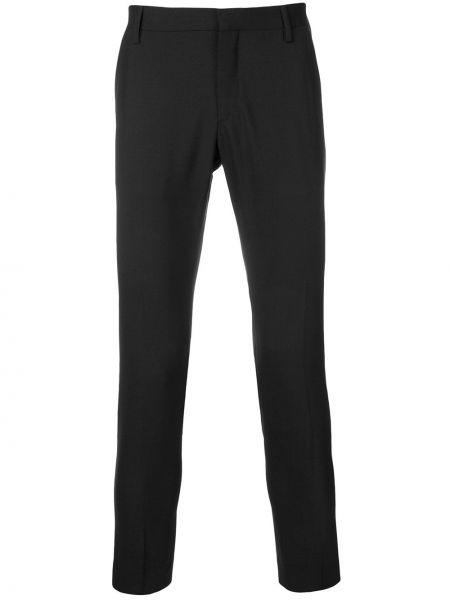Шерстяные черные деловые брюки Entre Amis