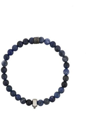 Niebieska bransoletka srebrna Northskull