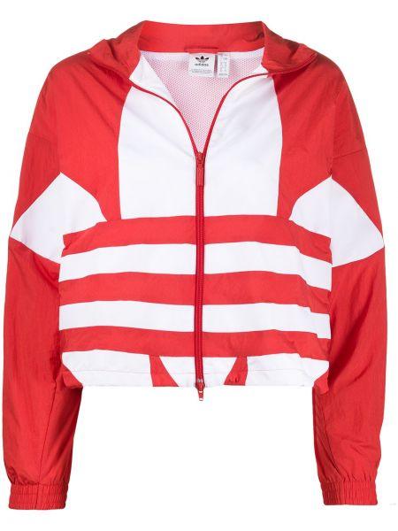 Длинная куртка леопардовая спортивная Adidas
