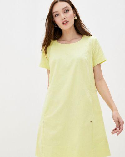 Прямое желтое свободное платье Finn Flare
