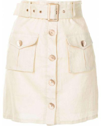 Золотистая юбка мини на пуговицах с карманами We Are Kindred