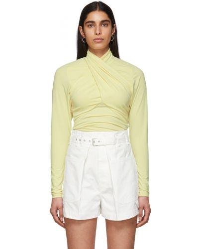 Блузка с длинным рукавом с воротником-стойкой в полоску Isabel Marant