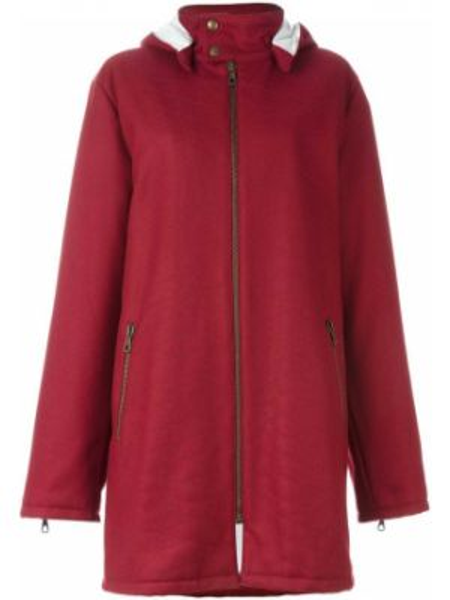 Прямая нейлоновая куртка с капюшоном мятная Romeo Gigli Pre-owned