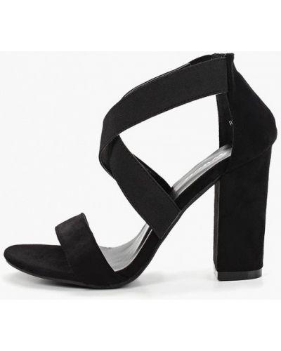 Босоножки черные на каблуке Fersini