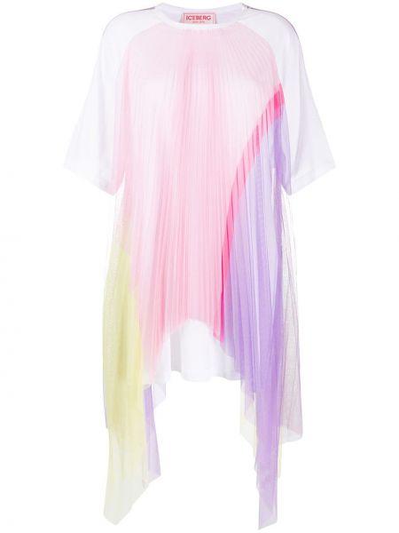 Платье мини со вставками с рукавами Iceberg