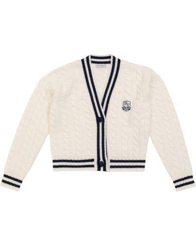 Шерстяной кардиган - белый Dolce & Gabbana Kids