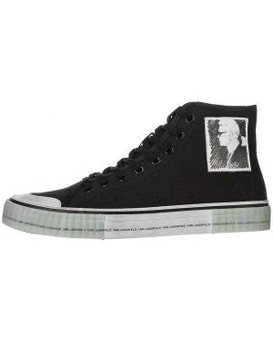 Высокие кеды черные текстильный Karl Lagerfeld