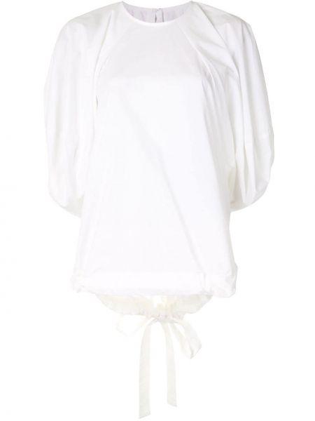 Bawełna biały bluzka okrągły okrągły dekolt Enfold