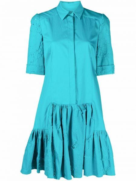 Платье мини короткое - синее Talbot Runhof