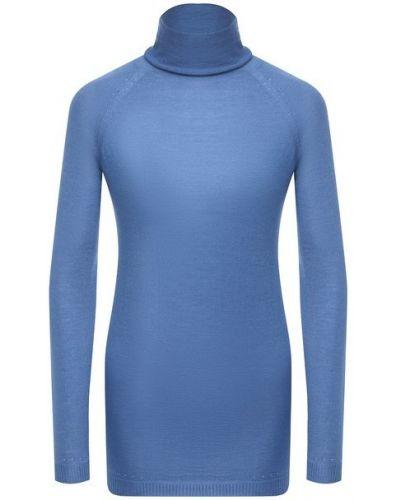 Кашемировая водолазка - синяя Kiton