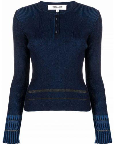 Синий джемпер на пуговицах Dvf Diane Von Furstenberg