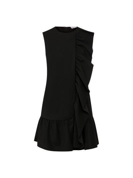 Платье мини с оборками черное Redvalentino