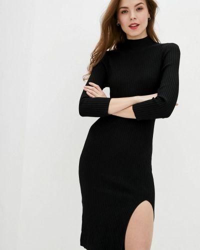 Трикотажное вязаное черное платье Miss Sixty