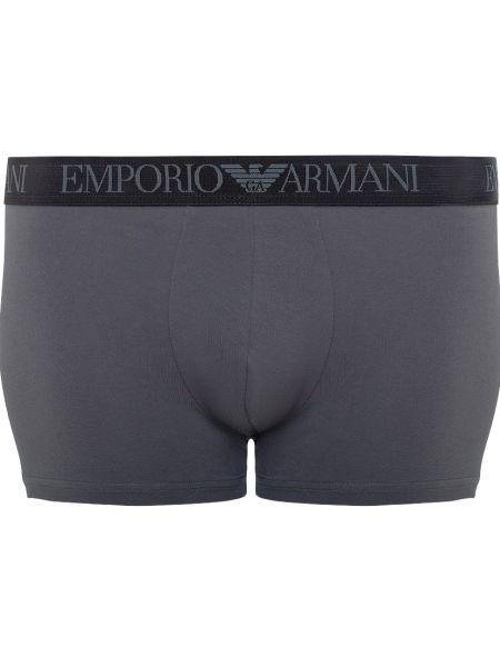 Серые трусы хлопковые Emporio Armani