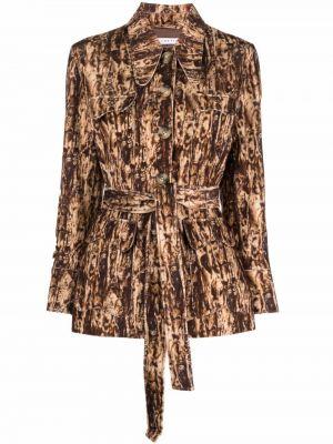 Рубашка из вискозы - коричневая Rejina Pyo