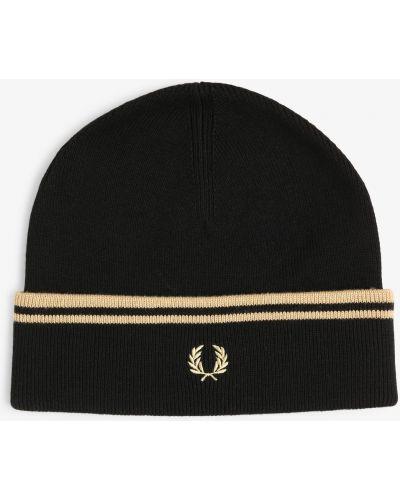 Klasyczny czarny czapka baseballowa z haftem Fred Perry